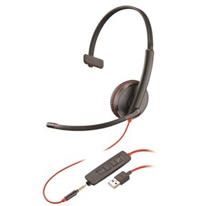 Plantronics Blackwire C3215 Mono USB-A Corded PC Headset 209746-201