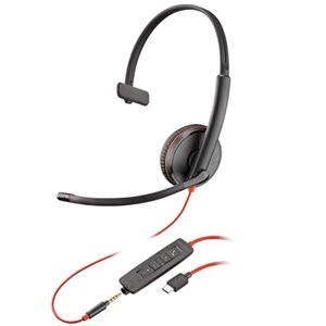 Plantronics Blackwire C3215 Mono USB-C Corded PC Headset 209750-201