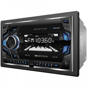 SoundStream VM-22B Double DIN Bluetooth Mechless 32GB Receiver