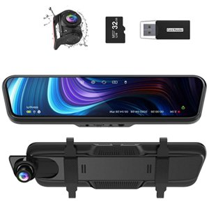 "Thieye CarView 3 Mirror Dash Cam 2.5K 1440P 32GB 10"" IPS Touch Screen"