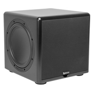 "TruAudio 10"" 250W Compact Powered Subwoofer & Dual Passive Radiators"