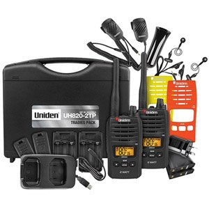 Uniden UH820S-2TP Tradie Pack 80-Channels 2 Watt UHF Handheld